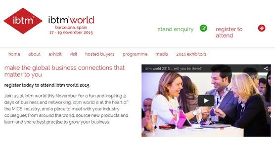 La organización de la feria IBTM World 2015 abre el plazo para el registro 'online' de visitantes