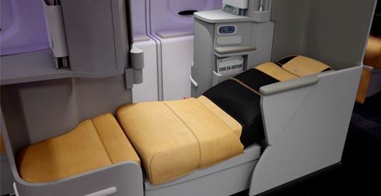 Los nuevos asientos de Alitalia que se convierten en cama.