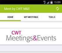 CWT Meetings & Events desarrolla una aplicación móvil para dar a conocer los aspectos principales de las reuniones