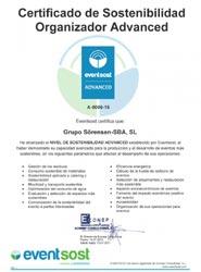 La agencia Sörensen obtiene el certificado Advanced de Eventsost por su compromiso con el medio ambiente