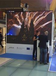 Los palacios de congresos de Galicia promocionan su oferta en el Aeropuerto Adolfo Suárez Madrid-Barajas